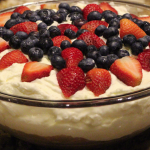 Patriotic cake red white and blue